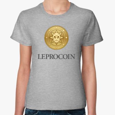 Женская футболка Leprocoin