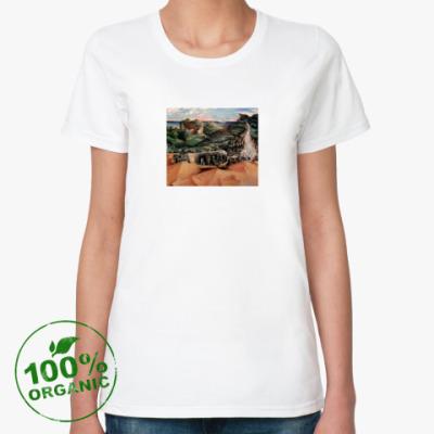 Женская футболка из органик-хлопка Сюрреализм, картина.