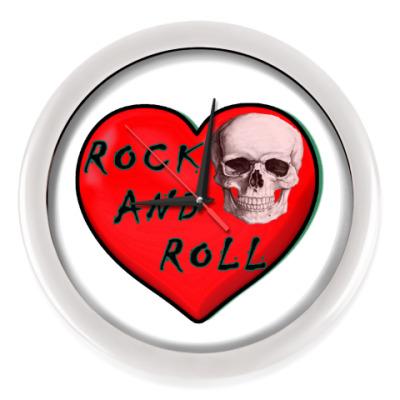 Настенные часы Рок-н-ролл скелет