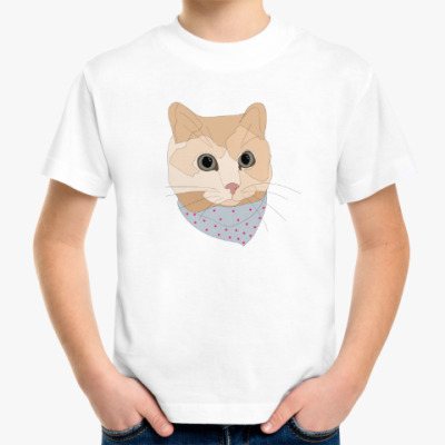 Детская футболка Песочный кот