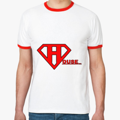 Футболка Ringer-T SuperHouse