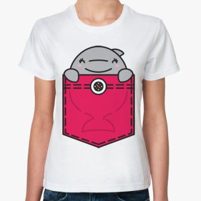 Классическая футболка Дельфин
