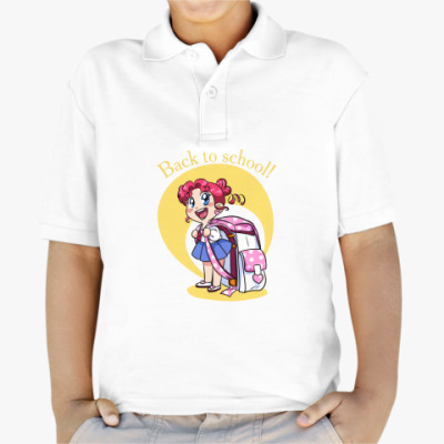 Детская рубашка поло  back to school!
