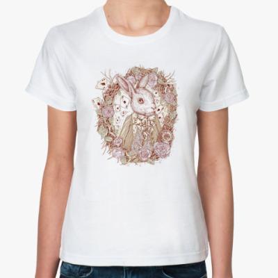 Классическая футболка Белый Кролик
