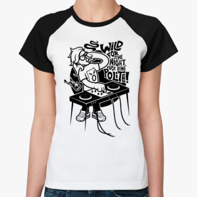 Женская футболка реглан  Skrillex