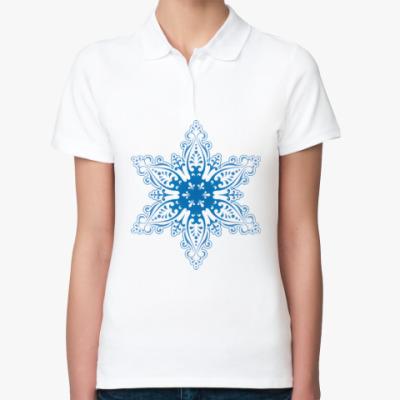 Женская рубашка поло Снежиночка