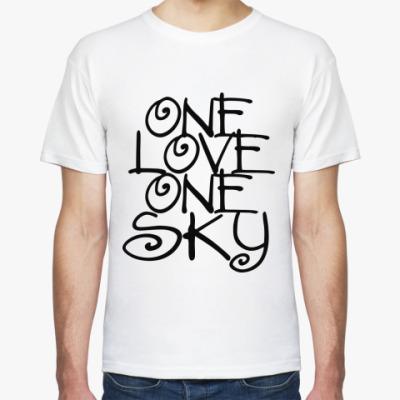 Футболка ONE love, ONE sky