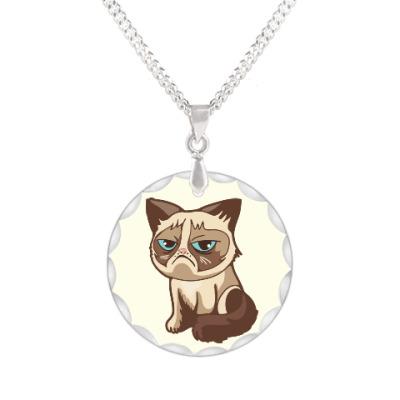 Кулон Угрюмый кот Тард - Grumpy Cat