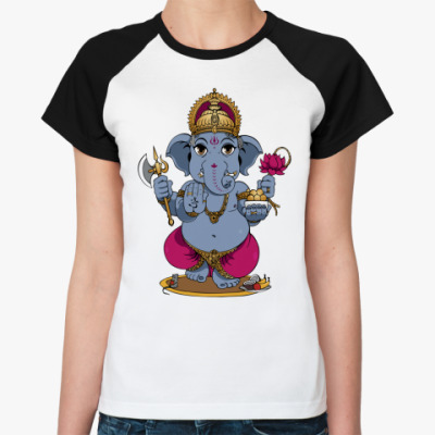 Женская футболка реглан Ganesha