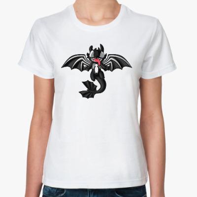 Классическая футболка Ночная Фурия