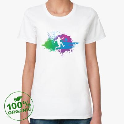Женская футболка из органик-хлопка runing