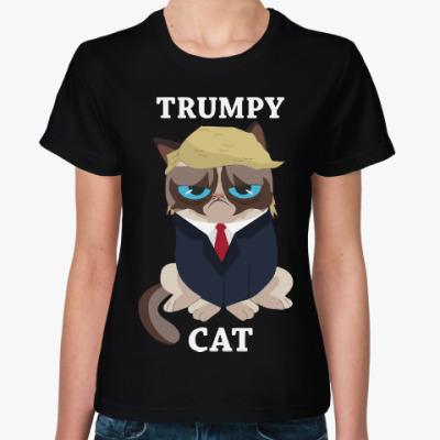 Женская футболка Угрюмый Трамп
