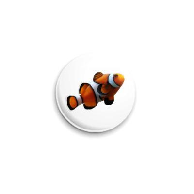 Значок 25мм Рыба-клоун
