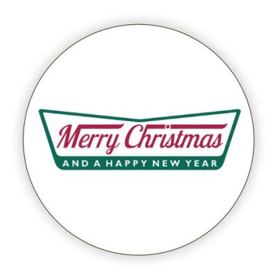 Костер (подставка под кружку) Счастливого Нового года