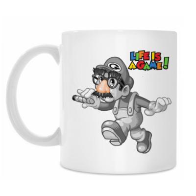 Кружка Марио - жизнь игра
