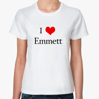 Классическая футболка  Love Emmett