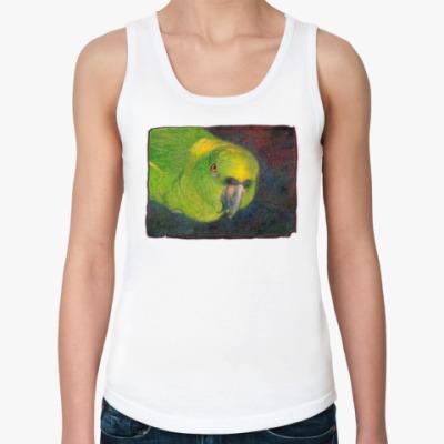 Женская майка Parrot green