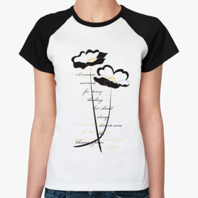 Женская футболка реглан  'Цветы'