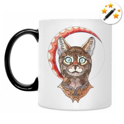 Кружка-хамелеон Бенгальский кот
