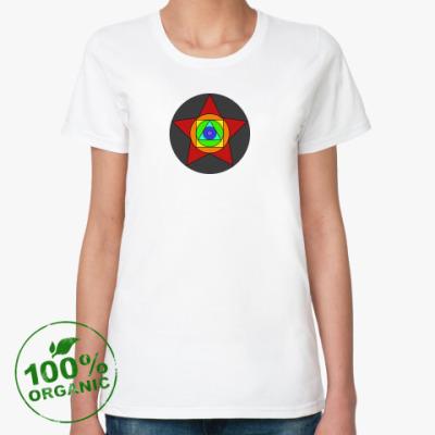 Женская футболка из органик-хлопка Rainbow