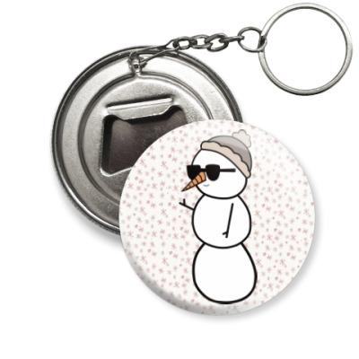 Брелок-открывашка Крутой снеговик