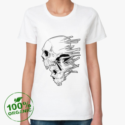 Женская футболка из органик-хлопка Skull