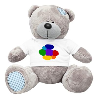 Плюшевый мишка Тедди Разноцветье