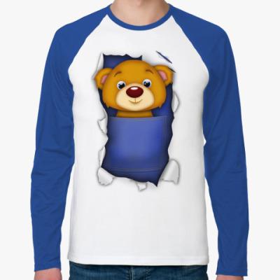 Футболка реглан с длинным рукавом 'Медведь'