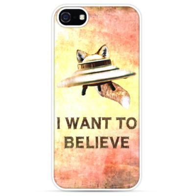 Чехол для iPhone Fox Flying Object