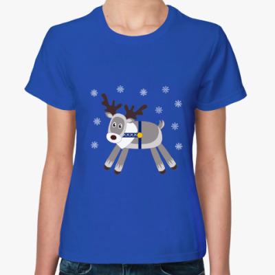 Женская футболка Северный олень