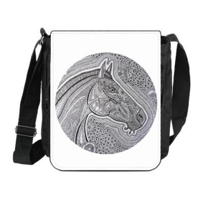 Сумка на плечо (мини-планшет) Лошадь