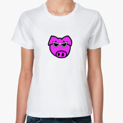 Классическая футболка поросенок
