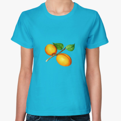Женская футболка Абрикос