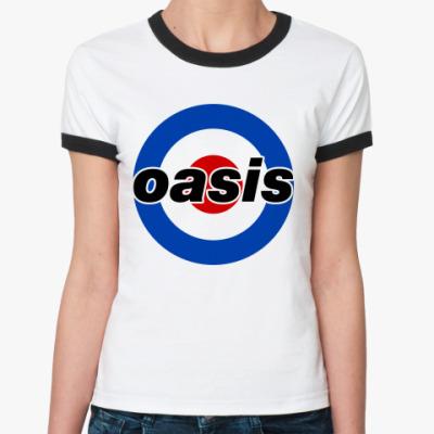 Женская футболка Ringer-T  Oasis Mod Target