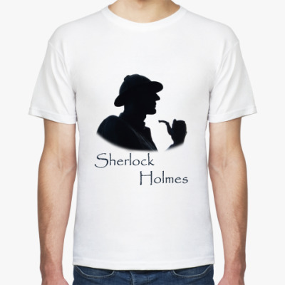 Футболка ``Шерлок Холмс``Муж.футболка