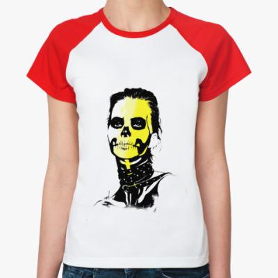 Женская футболка реглан Sugar skull