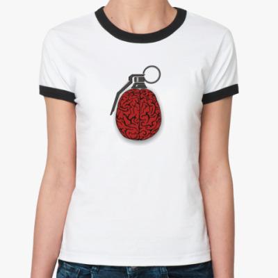 Женская футболка Ringer-T   'Мозграната'