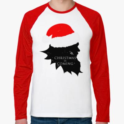 Футболка реглан с длинным рукавом Christmas is coming