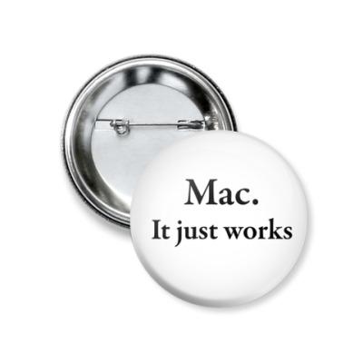 Значок 37мм Mac