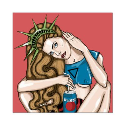 Наклейка (стикер) Lana Del Rey