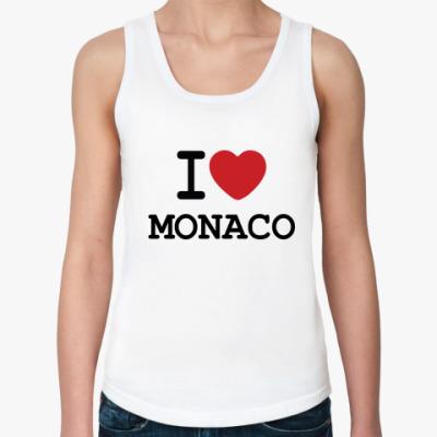 Женская майка  I Love Monaco