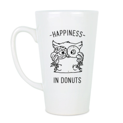 Чашка Латте Сова с плюшками