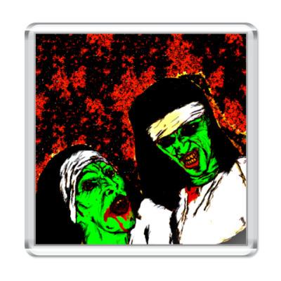 Магнит зомби-монашки