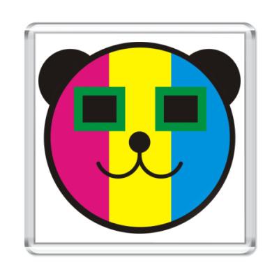Магнит  Медведь-радуга