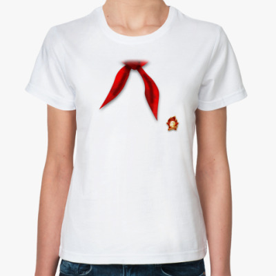 Классическая футболка Пионерский галстук + значок