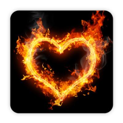 Костер (подставка под кружку) Огненное сердце