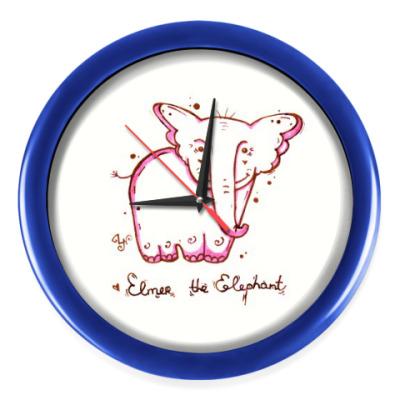 Настенные часы Розовый слон