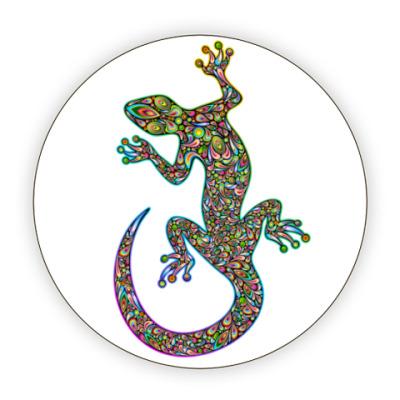 Костер (подставка под кружку) Цветная ящерица