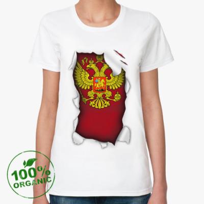 Женская футболка из органик-хлопка Россия