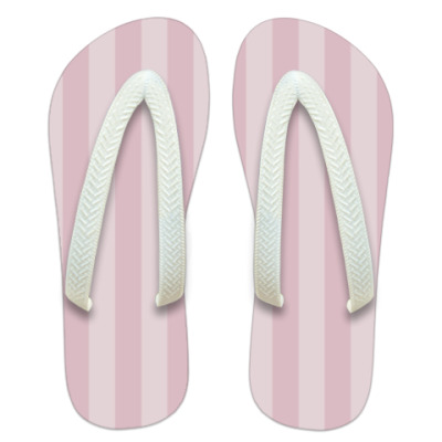 Шлепанцы (сланцы) Pink Stripes